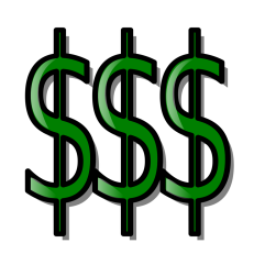 several dollars sign