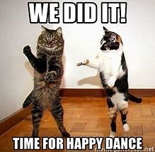 cat happy dance
